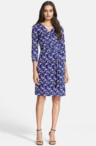 Diane von Furstenberg New Julian Two Wrap Silk Dress in RIVER LEOPARD SM... - $259.99