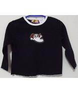 Toddler Girls Black White Halloween Long Sleeve T Shirt  24 M - $3.95