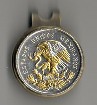 """Mexican 10 centavo 2-Toned """"Gold & silver Eagle"""" coin golf marker - $80.00"""