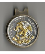 "Mexican 10 centavo 2-Toned ""Gold & silver Eagle"" coin golf marker - $80.00"