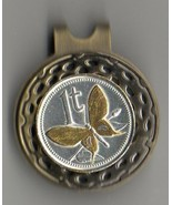 """Papa New Guinea 1 toea """"Gold & silver Butterfly"""" Coin Golf Marker - $65.00"""