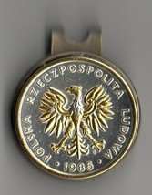 "Polish 5 zlotych 2-Toned ""Gold & silver Eagle"" Coin Golf Marker - $70.00"