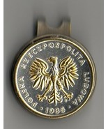 """Polish 5 zlotych 2-Toned """"Gold & silver Eagle"""" Coin Golf Marker - $70.00"""