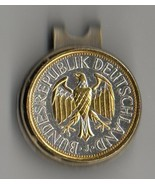 "German 1 mark ""Gold & silver Eagle"" Coin Golf Marker - $75.00"