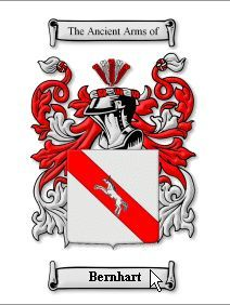 BERNHART SURNAME COAT OF ARMS PRINT - GENEALOG Bonanza