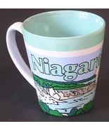 Niagara Falls NY Coffee Cup Hot Chocolate Tea Ceramic Mug Green Turquois... - $7.42