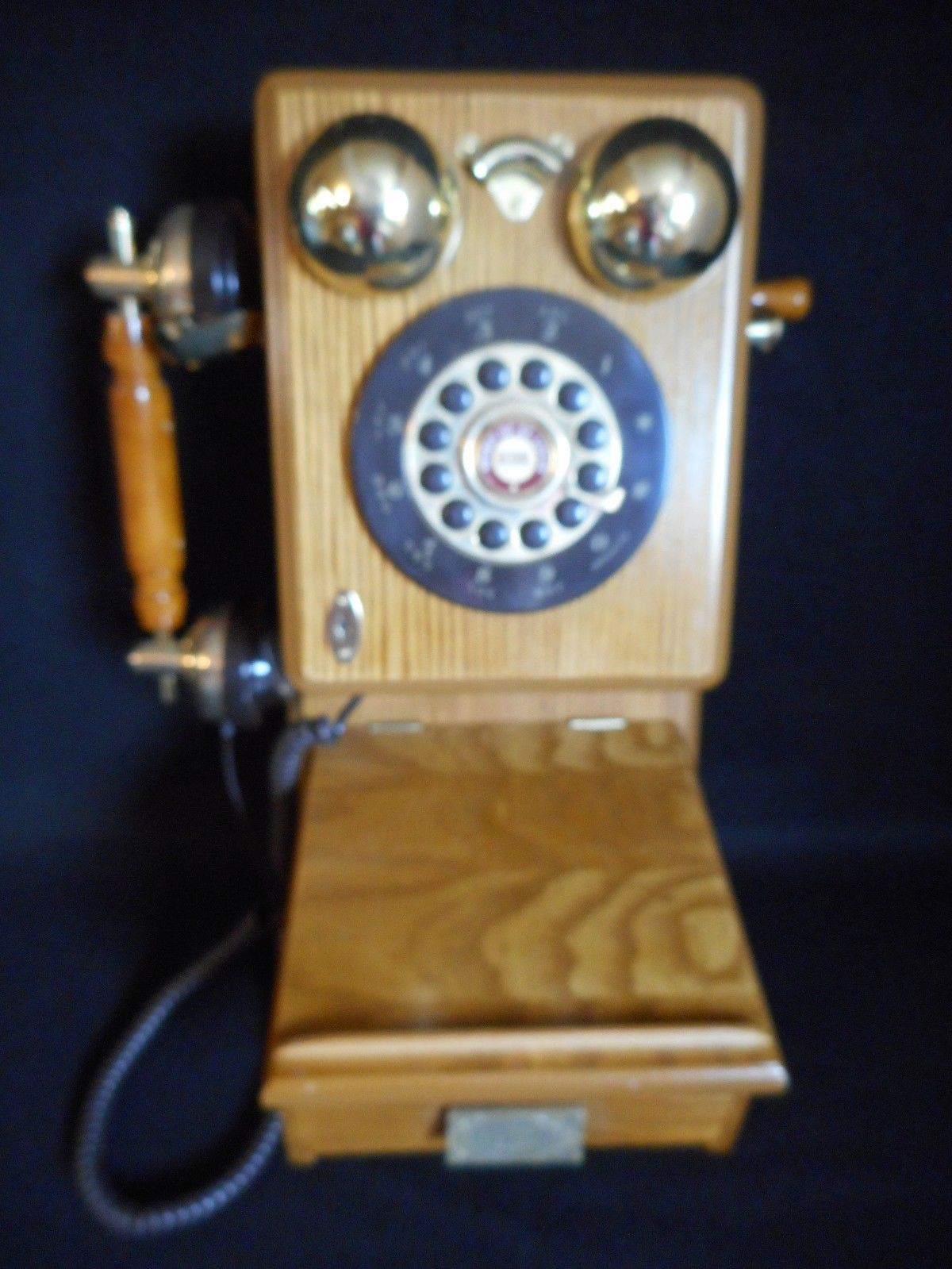Vintage Spirit of St Louis Old-Fashioned Antique Wood Telephone