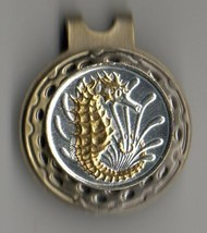 "Singapore 10 cent ""Gold & Silver Sea Horse""  coin golf marker - $71.00"