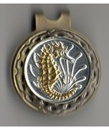 """Singapore 10 cent """"Gold & Silver Sea Horse""""  coin golf marker - $71.00"""