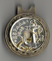 """Spanish 50 centimes 2-Toned  """"Gold & Siver""""  Coin Golf Marker - $70.00"""