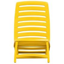 vidaXL 4x Folding Beach Chairs Plastic Beach Seat Outdoor Chair Multi Colors image 8