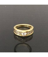 Vintage 14K Solid Yellow Gold .72ct Diamond Engagement Ring Size 7 - $765.00
