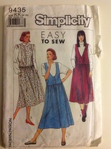 Simplicity Pattern 9435 Misses Jumpers Size 8-14 - $12.55