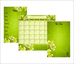Mother's Day Gift, Dry Erase Calendar, Magnetic Calendar, Command Center. - $29.99