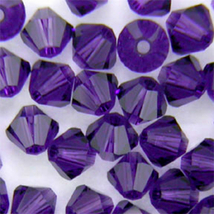4mm Purple Velvet Swarovski Xilion Crystal Beads 5328, 72 bicone - $7.00