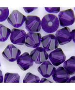4mm Purple Velvet Swarovski Xilion Crystal Beads 5328, 72 bicone - $6.50