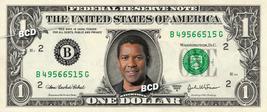 Denzel Washington On Real Dollar Bill Collectible Celebrity Cash Money Gift - $5.55
