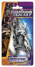 Guardians of the Galaxy Movie Rocket Raccoon Figure Pewter Key Ring Keyc... - $8.79
