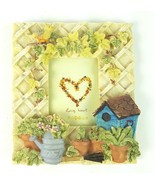 "Garden Gardening Flowers Birdhouse Lattice 2.5""x3.5"" Picture Frame Table... - $13.99"