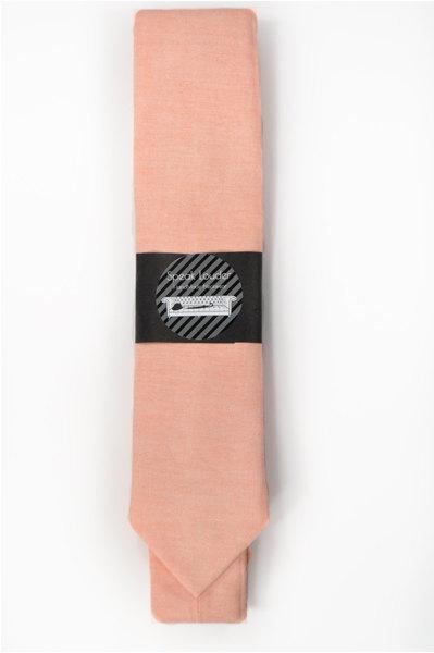 Light coral chambray peach Wedding Mens Tie Skinny Necktie Laid-Back necktie