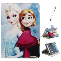 "Princess Elsa Anna Leather Case Cover For 7"" LG... - $9.99"