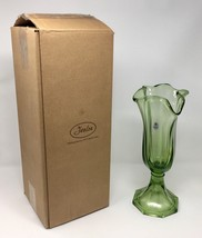 Fenton Art Glass Fern Green Large Swing Vase - New With Box! #4353 ZL - $95.00