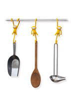 Kitchen Tools Hanging Funky Hook Design Monkey Set 3 Cookware Dining Bar... - £26.00 GBP
