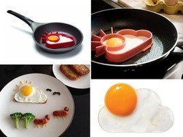 Egg Pancake Rings Shaper Silicon Kitchen Tools Gadgets Chef Kids Breakfa... - $19.23 CAD