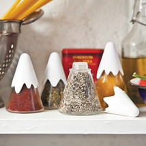 Home Gifts Kitchen set x 4 Spice Racks Holders Salt pepper glass Contain... - $23.78