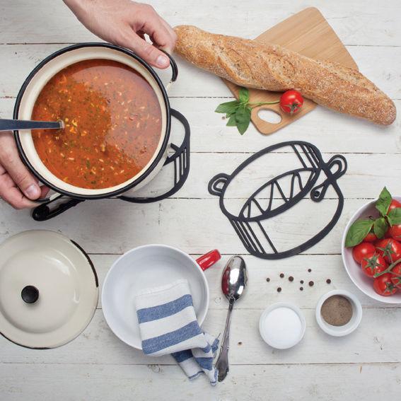 Hot Pot Trivet Origina Gift Funky Design Party Table Serving Dishes Home Kitchen