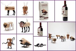Wine Souvenir Party Gifts Corks Craft Puzzle Robots Shelf Animels Decor ... - $15.00