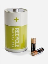 Save Earth Gift Tin Recycle Battery Storage Boxe Decor Home Office Works... - $17.00