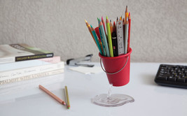 Office Work desk Stationery Stand Funky Design Display Pencil Eraser Pen... - $20.26