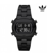 ADIDAS ADH6502 Men Women Square DIGITAL LCD Watch Black Resin Strap Black Dial - £82.84 GBP