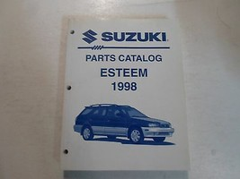 1998 Suzuki Esteem Parts Catalog Shop Manual 2nd Ed January Factory Oem Book 98 - $29.69