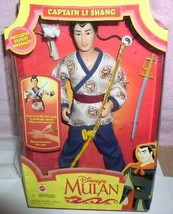 Disney Captain  Li Shang from Mulan doll wedding dated 1997 box is crushed - $59.99