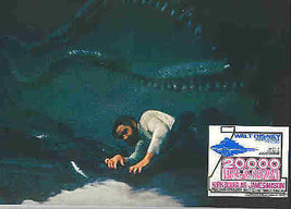 20,000 Leagues Under the Sea James Mason  Cap Nemo Giant Squid Lobby Card - $29.99