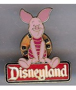 Piglet Character Sign Authentic Disney Disneyland Pin No card - $19.98
