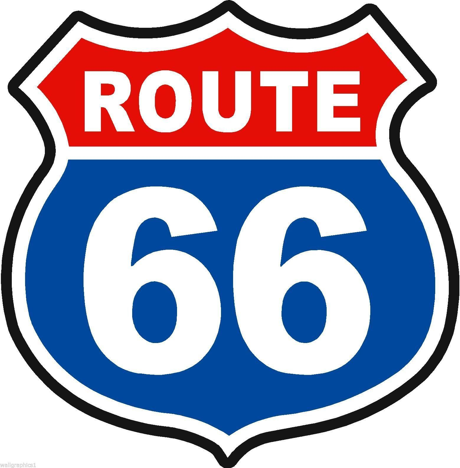 Route 66 Wall Decal Man Cave Bar Room Graphics Garage