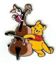Pooh and Piglet Playing Bass Authentic Disney Disneyland  DLR Pin No card - $48.37