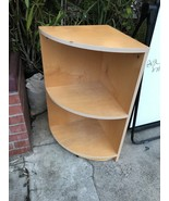 Corner Shelf Blonde Wood Color 32 X 16 Inches Local Pick Up Only - $12.60