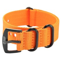 Shark Army Orange Nylon Sport Military Ourdoor Watchband Watch Strap Band WTL069 - $27.00