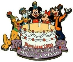 Disneyland 2000 Birthday Cake Fab 5 Authentic Disney DLR  Pin No card - $29.00