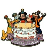 Disneyland 2000 Birthday Cake Fab 5 Authentic Disney DLR  Pin No card - $29.00