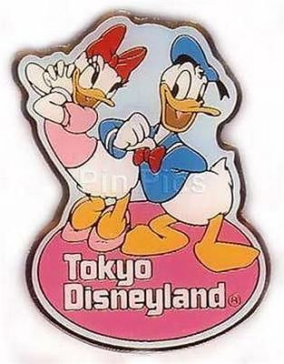 Primary image for Disneyland Tokyo Donald & Daisy Duck Authentic Disney Pin No Backer card