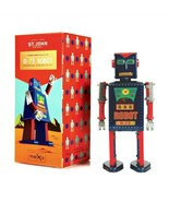 """D-73 ROBOT 5"""" Saint St. John Wind Up Tin Toy Collectible Retro Space Age... - $26.95"""
