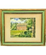 """DEY MANSION"" SIGNED DAVIS GRAY (ERNEST B. WALDEN) WATERCOLOR PRINT 10 5... - $49.95"