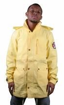 Crooks and Castles League Zip Hooded Yellow Parka Coat Jacket