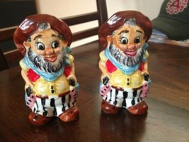Vintage Hobo Hillbilly Cowboy Salt & Pepper Sha... - $2.99