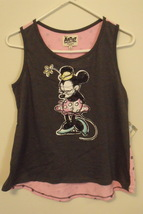 Girls Disney NWT Pink Brown Sleeveless Minnie Mouse Tank Top Size XL - $14.95